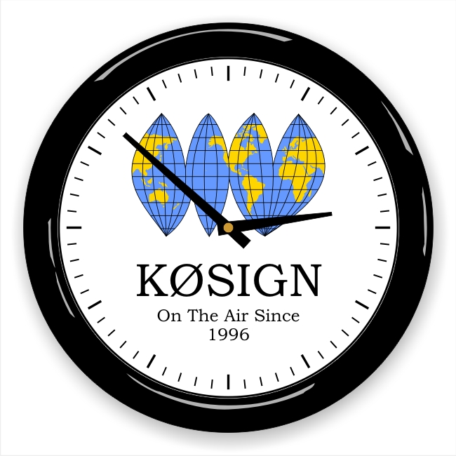 World Wall Clock with Callsign & Message